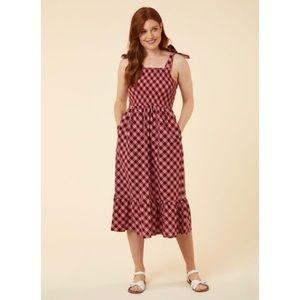 Joanie Clothing Smocked Cotton Midi Sundress
